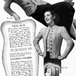 Bearskin Knitted Twin Sets 1939