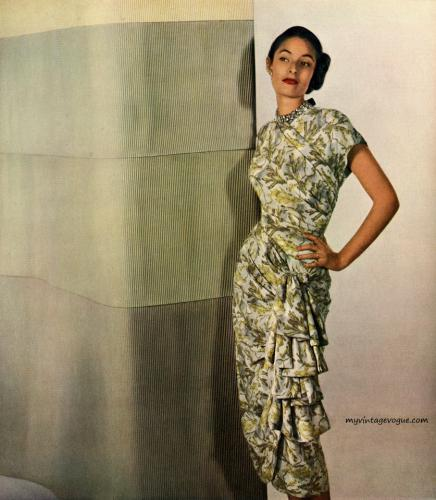 Avisco Rayon 1948 dress by Herbert Sondheim