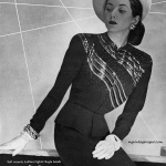 Maurice Rentner's two-piece cocktail dress 1946