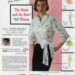 An Edith Head Original - The Birds and the Bees Hug me tight Blouse 1956