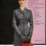 Anne Gunning wearing a suit by Handmacher 1954