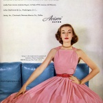 Avisco - Liz Pringle waering a dress by Claire McCardell 1952