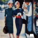 Avisco / Dresses by Vicky Vaughns 1957