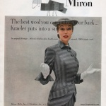 Liz Pringle wearing suit by Kraeler in Miron Wool 1951