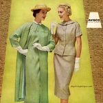Carole King fashions in Avisco Rayon 1957