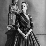 Alice Bruno wearing Anne Forgarty 1952