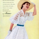 Avisco - Dress by Young Modes 1955