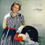 Avisco 1951, dress designed by David Crystal