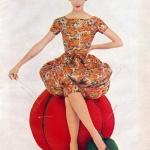 Lucinda Hollingsworth 1958 wearing McCall's Pattern 8812