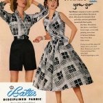 Toni Owen's designs in Bates fabric 1955