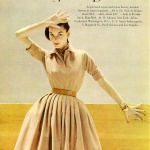 Sherry Nelms wearing a dress by Toni Owens / Natona 1951
