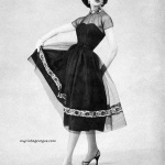 Leonie Vernet wearing Taffy Original Designs Inc 1956