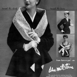 Nancy Berg wearing Dan Millstein 1954