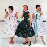 Dresses by Joan Miller 1955