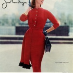 Dorlores Hawkins / Jonathan Logan 1956 dress designed by Jeanne Carr