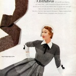 Sophie Malgat wearing design by David Crystal / Milliken 1950