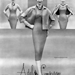 Sherry Nelms wearing Adele Simpson 1956