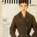 Janet Randy / Juilliard Woolens 1952 coat designed by Frank Gallant 1952