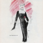 I Magnin & Co 1956 / Dress by Nettie Rosenstein & hat by Lilly Dache