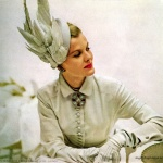 Fashion Plate by Revlon 1948, hat by Lilly Dache'