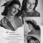 Jean Allen hats by Gage 1944