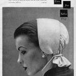 Bustle Back Hat by Mr John - Spring 1950