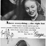 Gage Hats 1947