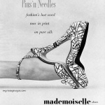 """""""Pins 'n Needles"""" Mademoiselle Shoes 1951, photo by Mark Shaw"""