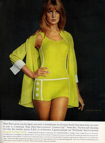 Peter Pan Swimwear designed by Oleg Cassini 1968