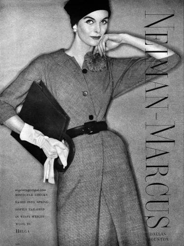 Neiman-Marcus 1957 / Anne St Marie photo by Clifford Coffin.