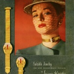 Dorian Leigh wearing Suitable Jewelry by Jacques Kreisler 1946