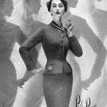 Strawbridge & Clothier 1953 Dovima wearing Paul Parnes Wenczel