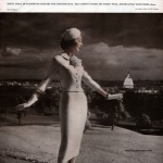 Julius Garfinckel & Co 1957 - Dovima wearing suit by Edith Small, photo by Toni Frissell