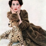 Dovima wearing a coat by Borgana 1955