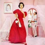 Dovima wearing a gown by Rosalie Macrini 1957