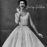Dovima wearing dress by Jerry Gilden 1954