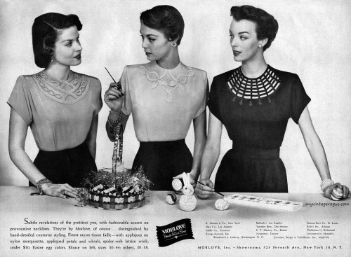 Morlove Inc 1950 / Jean Patchett (center)