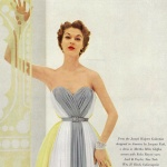 Enka Rayon / Jean Patchett wearing a design by Jacques Fath 1952