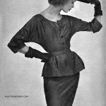 Jean Patchett wearing Butterick Fashion 1952