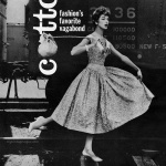 Jean Patchett wearing dress by Kane Weill 1958