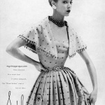 Jean Patchett wearing Adele Simpson 1951