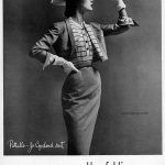 Jean Patchett wearing Pattullo Jo Copeland 1951