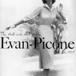 Jean Patchett wearing Evan-Picone 1957