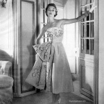 Jean Patchett wearing a gown by Hattie Carnegie 1952