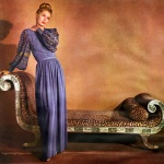 Lisa Fonssagrives wearing Maurice Rentner 1945