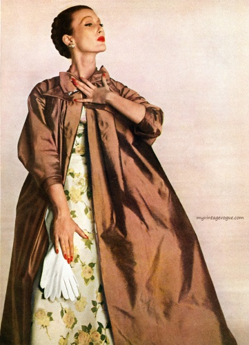 Harper's Bazaar April 1955 - Mary Jane Russell, photo by Louise Dahl-Wolfe