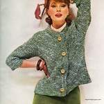 Suzy Parker wearing outfit by Weber Knit - DuPont 1962